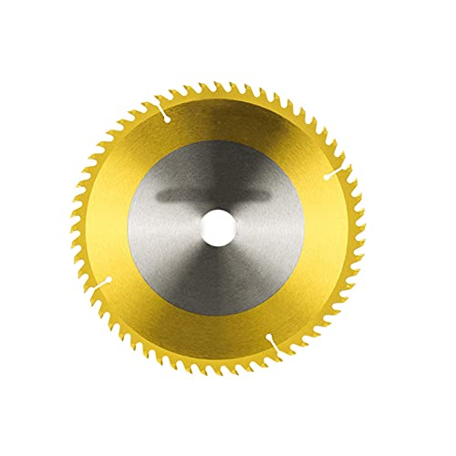 Wnuanjun 1 stück 254 255mm TCT Kreissägeblatt Titan-beschichtete Hartmetallschneidendics für Schnittholz, PVC-Rohr Holzschneidklinge (Farbe : 254x30mm 60T)