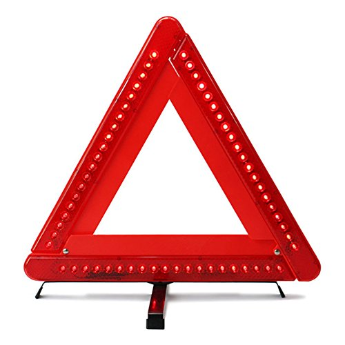 Krtopo Faltbares Warndreieck Sicherheits-Auto/Straßenrand Reflektierendes Notfalldreieck Reflektor Blitzgeber