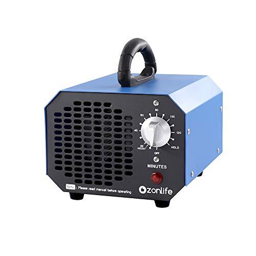 Ozongenerator Luftreiniger 6,000 MG/h,Ozon Luftreiniger mit Timer, Geeignet für Räume/Haushalte/Keller