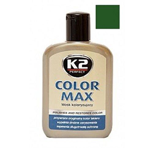 K2 Farbwachs dunkelgrün, Wachspolitur Carnauba zum Ausbessern, Lackpolitur 200ml
