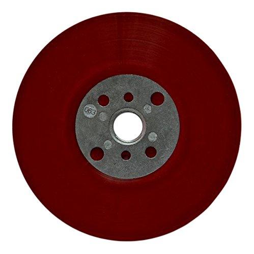 3M Hochleistungs-Stützteller, rot, 115 mm, M14, flach, weich, 1 Stück / Karton