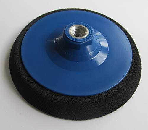 Polierteller Ø 55mm - 200mm Schleifteller Stützteller Klett Winkelschleifer Zellkautschuk (fest) Gewinde M14 für Klett-Schleifscheiben (Durchmesser Ø 75mm)