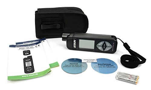 ETARI MD 666 Schichtdickenmessgerät, Auto Lackschichtenmesser für Eisen und Alu-Karosserien, Lackdickenmessgerät, Lackmessgerät mit Selbstkalibrierung