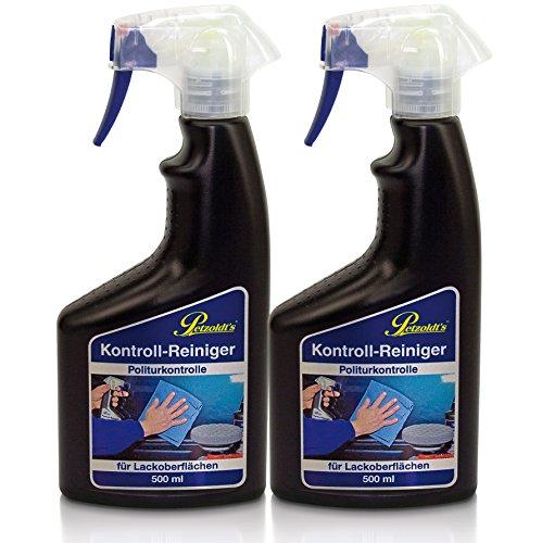 2 x 500 ml Petzoldts Kontroll-Reiniger Spray zur Politurkontrolle macht Lackreiniger und Pre-Cleaner überflüssig, entfernt Autopoliturreste, Fette, Silikone, Öle, Wachse. Vor Lackversiegelung o. Wachs