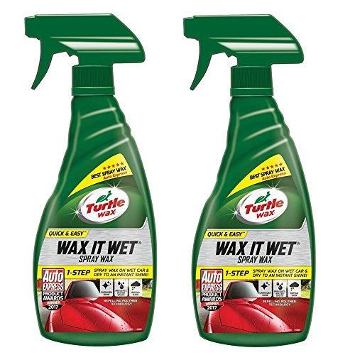 Turtle Wax 51800#2Pack Wax it Wet Auto Spray Wachs Reinigungsschutz Und Sofortiger Glanz 2 x 500ml