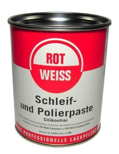 Rotweiss 1 Stück Schleif + Polierpaste 750ml Auto Schleifpaste Politur Lack