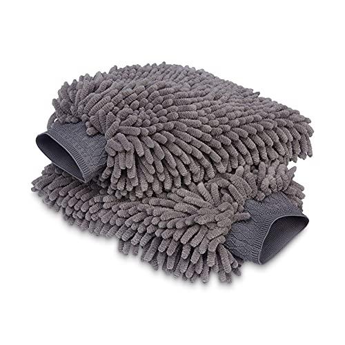 Amazon Basics Deluxe Auto-Waschhandschuh, Mikrofaser, 2 Stück