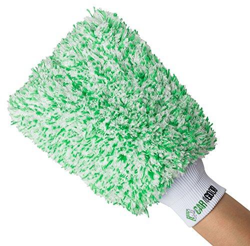Car4Good ® Profi Autowaschhandschuh aus saugfähigster Microfaser - Autoschwamm zum Auto waschen - Premium Waschhandschuh Schwamm Saugkraft Mikrofaser