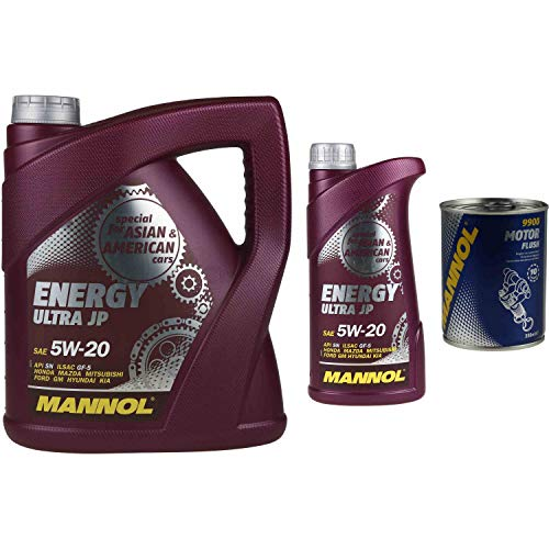 5L Motoröl MANNOL Energy Ultra JP 5W-20 1x MANNOL Motor Flush ADDITIV