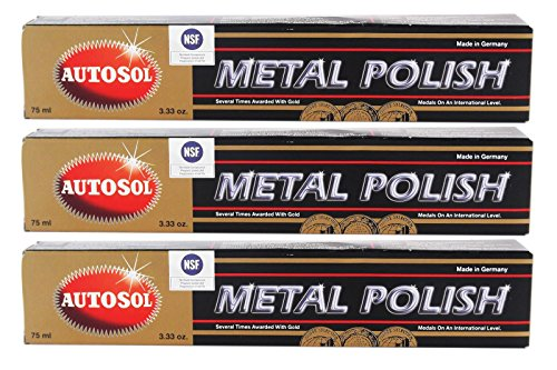 Autosol 3X Metal Polish Edel Chromglanz Metall Politur Chrompolitur 75 ml