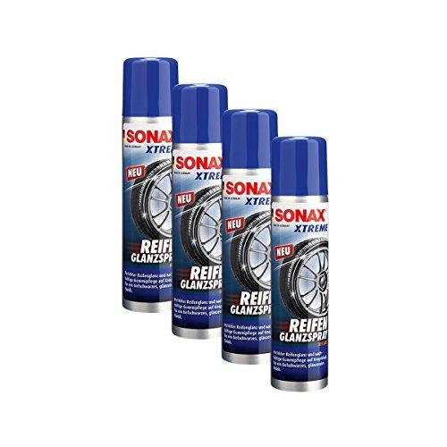 SONAX 4X 02353000 Xtreme ReifenGlanzSpray Wet Look Reifenspray 400ml
