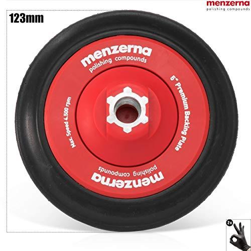 detailmate Auto polieren - Menzerna Premium Stützteller 123mm, gedämpft, für 150 mm Pads M14 + Schutzhandschuhe