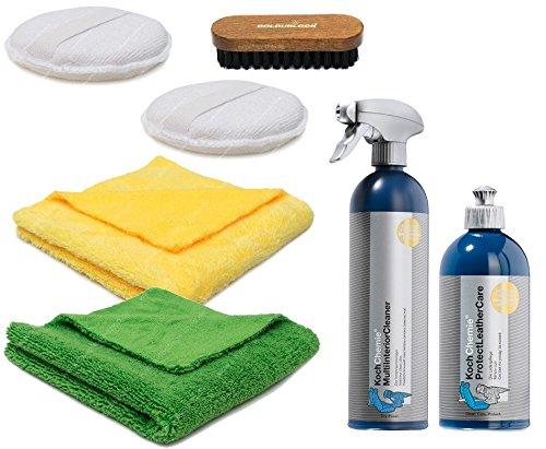 Koch Chemie Protect Leather Care 500ml Lederreinigung / Lederpflege / Ledersitzepflege 7tlg. Profi-Set