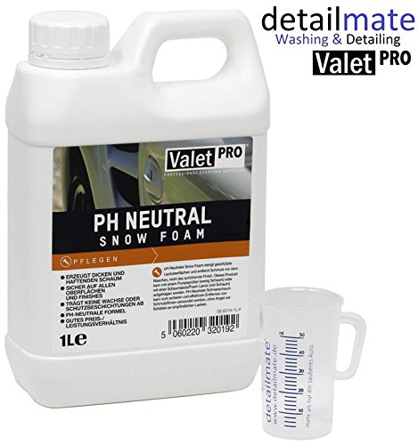 ValetPRO ph Neutral Snow Foam 1 Liter + detailmate 50 ml Messbecher