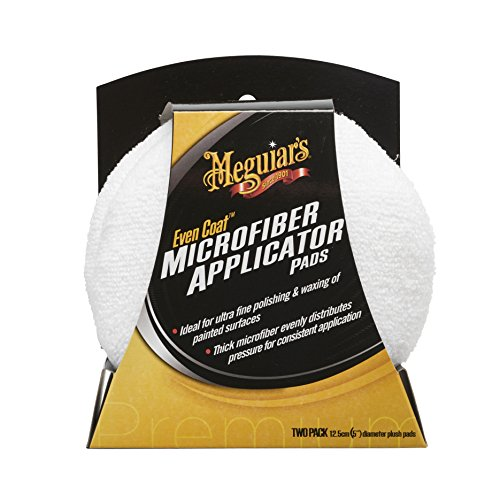 Meguiar's X3080EU Even Coat Applicator Pad, Mikrofaser-Auftragsschwamm, 2er-Pack