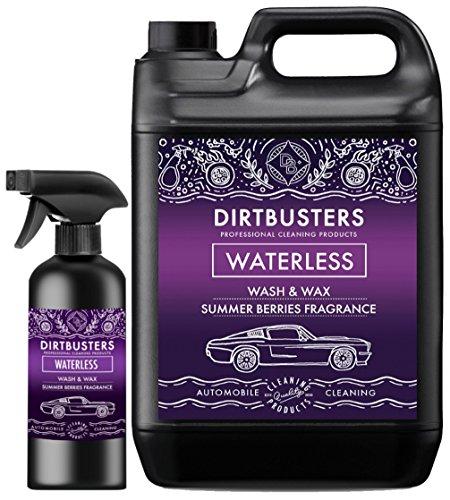 Dirtbusters Trockenreiniger für die professionelle Autowäsche - sicher, ungiftig, mit hochglänzendem Wachsfinish & Sommerbeerenduft - 5 l + 500 ml Sprühspender