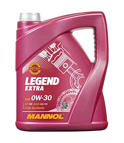 MANNOL 1 x 5 Liter, Legend Extra 0W-30 MB 229.52 Motoröl
