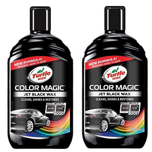 Turtle Wax Color Magic 52708#2Pack Autolack für die Lackierung und den Glanz, Schwarz, 2 x 500 ml