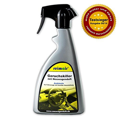 reimair New Car Geruchskiller Ambiente Profi Lufterfrischer mit Neuwagenduft 500 ml für Textilausstattung