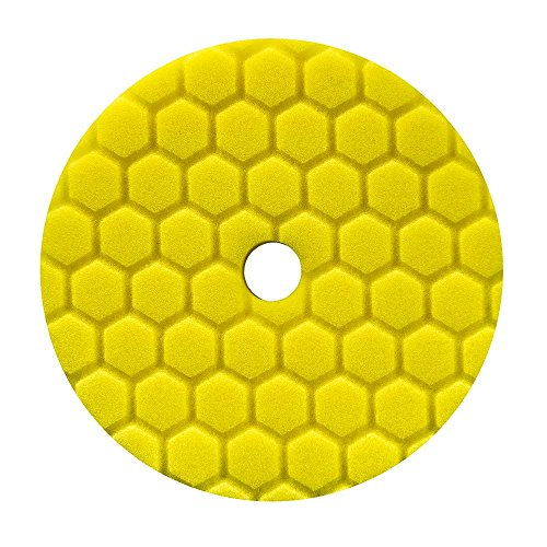 Chemical Guys BUFX111HEX5 Hex-Logic Quantum Heavy Cutting Pad (gelb, 14 cm), 5.5