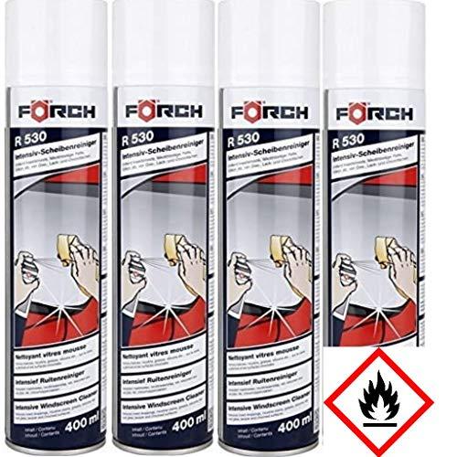 4x Förch 6100-1600 Intensiv-Scheibenreiniger-Schaum R530, 400 ml