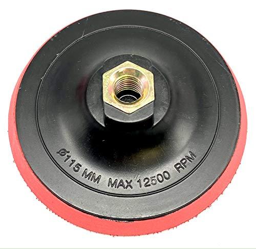 EMPORA Schleifteller Stützteller für Winkelschleifer - 115 mm - 125 mm - 180 mm - M14 - Stützteller für Bohrmaschine/Winkelschleifer (Mit Klett Medium, 115 mm)