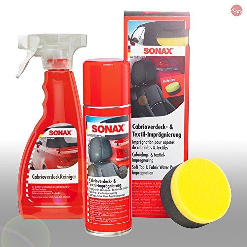 SONAX CabrioverdeckReiniger 500ml + Cabrioverdeck- & TextilImprägnierung 300ml