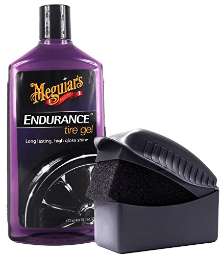 MEGUIAR'S MEGUIARS Endurance High Gloss Reifenglanz Reifenglanzgel Reifenpflege 473 ml & Tyre Dressing Schwamm Auftragsschwamm