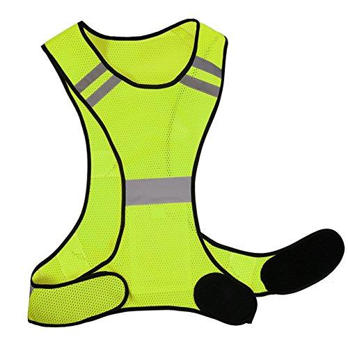 Laufweste - Reflektierende Weste für Joggen, Fahrrad - Atmungsaktiv - Leicht