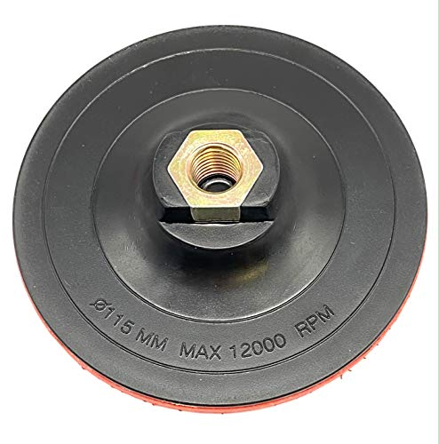 EMPORA Schleifteller Stützteller für Winkelschleifer - 115 mm - 125 mm - 180 mm - M14 - Stützteller für Bohrmaschine/Winkelschleifer (Mit Klett Hard, 115 mm)