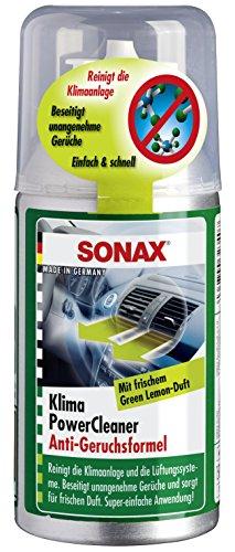 SONAX KlimaPowerCleaner AirAid probiotisch Green Lemon (100 ml) sorgt schnell und einfach für langanhaltende Lufthygiene und befreit dauerhaft von lästigen Gerüchen | Art-Nr.