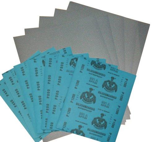 10 Blatt Wasserschleifpapier Nassschleifpapier Körnung 2000